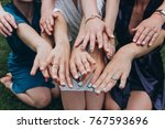 manicure of witnesses. | Shutterstock . vector #767593696