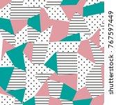 the memphis pattern. trending... | Shutterstock .eps vector #767597449