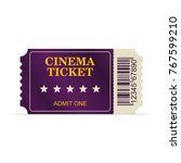 designed cinema ticket isolated ... | Shutterstock .eps vector #767599210