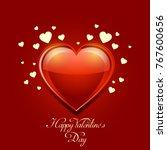 valentine's day banner with... | Shutterstock . vector #767600656