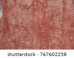 red wall crack cement background | Shutterstock . vector #767602258