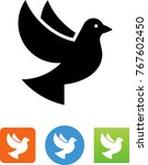 vector dove icon | Shutterstock .eps vector #767602450