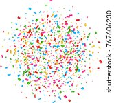 confetti background with party... | Shutterstock .eps vector #767606230