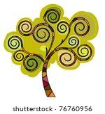 stylized green tree eps 10