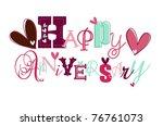 happy anniversary card eps 10 | Shutterstock .eps vector #76761073