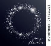 christmas snowfall. the circle... | Shutterstock .eps vector #767611216