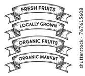 fruit organic market  locally... | Shutterstock .eps vector #767615608