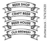 beer shop  craft beer house ... | Shutterstock .eps vector #767615620