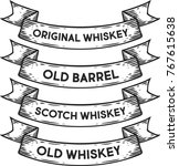 scotch whiskey  old barrel... | Shutterstock .eps vector #767615638