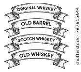 scotch whiskey  old barrel... | Shutterstock .eps vector #767615644