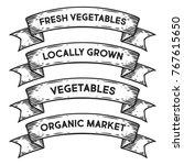 vegetable organic market ... | Shutterstock .eps vector #767615650