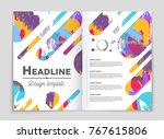abstract vector layout... | Shutterstock .eps vector #767615806