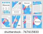 abstract vector layout... | Shutterstock .eps vector #767615833
