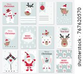 set of christmas and new year... | Shutterstock .eps vector #767620570