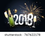 2018 vector illustration with a ... | Shutterstock .eps vector #767622178
