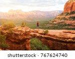 travel in devil's bridge trail  ... | Shutterstock . vector #767624740