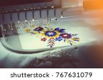 computerized embroidery... | Shutterstock . vector #767631079