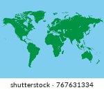 vector image of world map. | Shutterstock .eps vector #767631334
