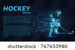 hockey from the particles.... | Shutterstock .eps vector #767633980