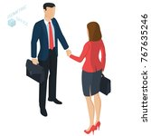 successful businessman and... | Shutterstock .eps vector #767635246