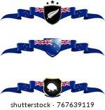 new zealand patriotic banner... | Shutterstock .eps vector #767639119