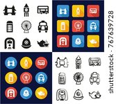 london all in one icons black   ... | Shutterstock .eps vector #767639728