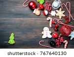 christmas holiday background.... | Shutterstock . vector #767640130