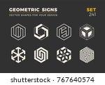 set of eight minimalistic... | Shutterstock .eps vector #767640574