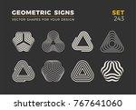 set of eight minimalistic... | Shutterstock .eps vector #767641060