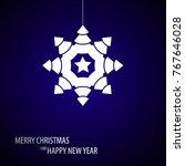 beautiful decorative christmas... | Shutterstock .eps vector #767646028