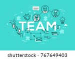 creative infographic banner... | Shutterstock .eps vector #767649403