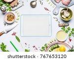 healthy eating ingredients... | Shutterstock . vector #767653120