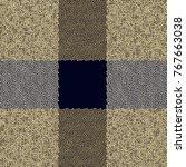 golden   black dots seamless... | Shutterstock .eps vector #767663038