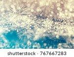 magic golden blue holiday... | Shutterstock . vector #767667283