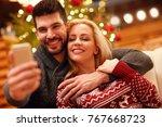 christmas  holidays  technology ... | Shutterstock . vector #767668723