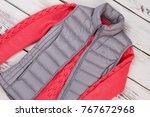 autumn season women's clothing. ... | Shutterstock . vector #767672968