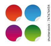 empty round sticker label set... | Shutterstock .eps vector #767676454