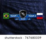 scoreboard design elements for... | Shutterstock .eps vector #767680339