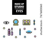 make up flyer for beauty studio.... | Shutterstock .eps vector #767683060