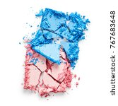 pink and blue eye shadow... | Shutterstock . vector #767683648