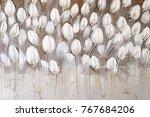 hand drawn textured floral... | Shutterstock . vector #767684206