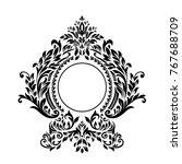 premium  vintage baroque frame... | Shutterstock .eps vector #767688709