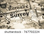 surrey. canada on a map.   Shutterstock . vector #767702224