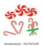 peppermint candy and candy... | Shutterstock .eps vector #767707159