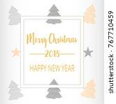 simple christmas celebrating... | Shutterstock .eps vector #767710459