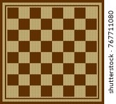 chess board vector. knitted... | Shutterstock .eps vector #767711080