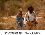 sweet siblings  brother and...   Shutterstock . vector #767714398
