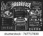 breakfast menu design template. ...   Shutterstock .eps vector #767717830