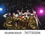 office christmas party. group... | Shutterstock . vector #767720206