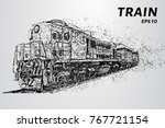 the train consists of dots and... | Shutterstock .eps vector #767721154